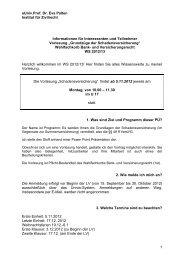 aUniv.Prof. Dr. Eva Palten Institut für Zivilrecht 1 Informationen für ...