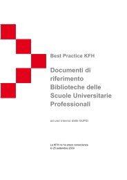 Documenti di riferimento Biblioteche delle Scuole ... - KFH