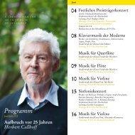 Programm - Robert Schumann Hochschule Düsseldorf
