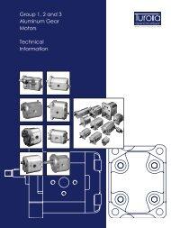 Group 1, 2 and 3 Aluminum Gear Motors Technical ... - Sauer-Danfoss