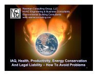 IAQ, Health, Productivity, Energy Conservation And Legal ... - NFMT