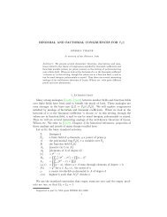 BINOMIAL AND FACTORIAL CONGRUENCES FOR Fq[t] 1 ...