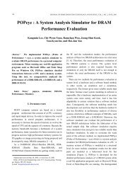 A System Analysis Simulator for DRAM Performance ... - JSTS