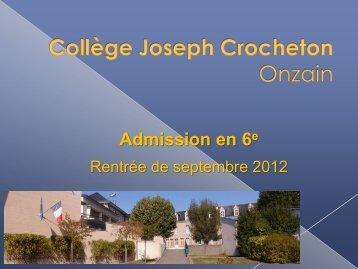 Diaporama - Collège Joseph Crocheton