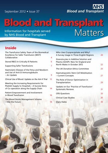Issue 37 2012 (PDF, 1560K) - Give Blood