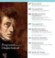 Chopin Festival - Robert Schumann Hochschule Düsseldorf