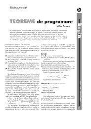 egi TEOREME de programare - GInfo