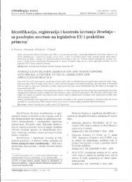 Identifikacija, registracija i kontrola kretanja životinja - Institut za ...