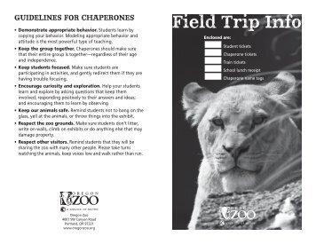 Field trip booklet.indd - Oregon Zoo