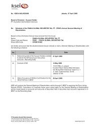 Date of Issuance of Written Confirmation for the GM (KTUR ... - KSEI