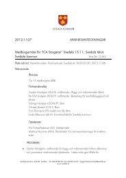 2012-11-07 MINNESANTECKNINGAR ... - Svedala kommun
