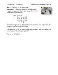 Homework 3 Questions Quantitative Analysis BA ... - Meet the Faculty