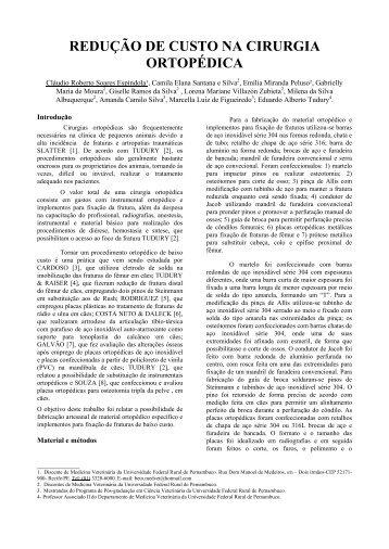 redução de custo na cirurgia ortopédica - Eventosufrpe.com.br