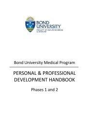 personal & professional development handbook - bond university ...