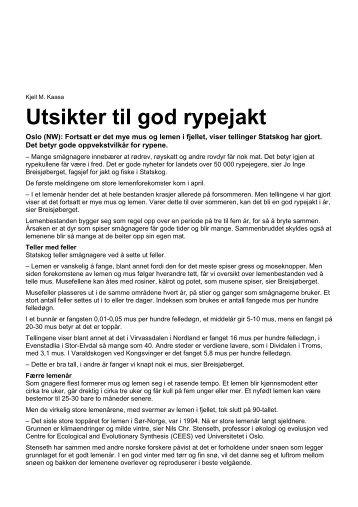 2011-06-30 Utsikter til god rypejakt - Statskog