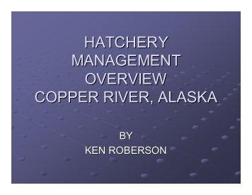 Hatchery Management Overview - Ecotrust
