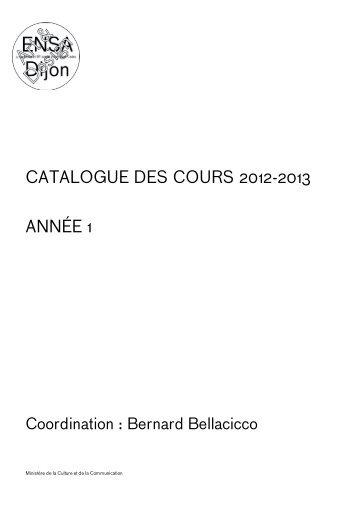 1_catalogue des cours - (ENSA) Dijon