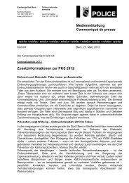 Zusatzinformationen - Kantonspolizei Bern