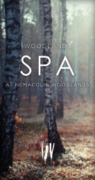 WOODLANDS SPA - Nemacolin Woodlands Resort