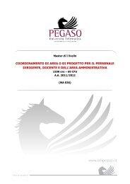 coordinamento di area o di progetto per il personale dirigente ...