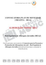 Bases Convocatoria 2012 - Albergues MOVIC