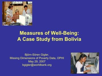 Measures of Well-Being: A Case Study from Bolivia - OPHI