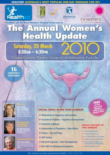 Healthed and the Royal Women's Hospital invites you