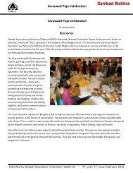 Saraswati Puja - BASC - Bengali Association of Southern California