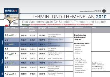 TERMIN- UND THEMENPLAN 2010 - OmnibusRevue