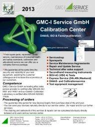 DAkkS Calibration - GMC-I Service GmbH