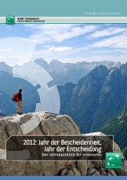 2012: Jahr der Bescheidenheit, Jahr der Entscheidung