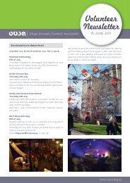 Volunteer Newsletter - OUSA
