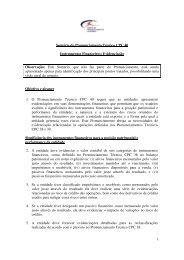 1 Sumário do Pronunciamento Técnico CPC 40 Instrumentos ... - CVM