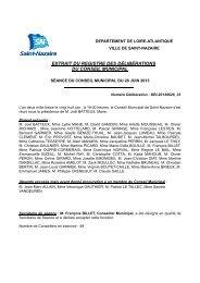 Consultez la délibération n°33 adoptée par Conseil ... - Saint-Nazaire