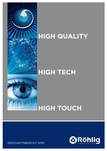 high touch high tech high quality - Röhlig