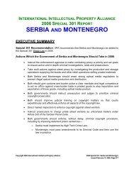 SERBIA AND MONTENEGRO - IIPA