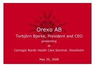 Presentation - Orexo