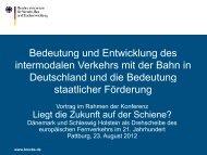 Vortrag des deutschen Verkehrsministeriums (BMVBS) - CB-Log