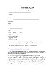 Delegate Booking Form - The Critical Thinking Community
