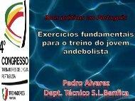 Exercícios fundamentais para o Treino de Jovens - Prof. Pedro Alvarez