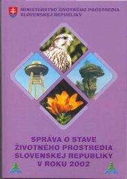Správa o stave životného prostredia Slovenskej republiky v roku 2002