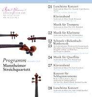 Mannheimer Streichquartett - Robert Schumann Hochschule ...