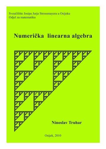 Numerička linearna algebra - Odjel za matematiku - Sveučilište ...