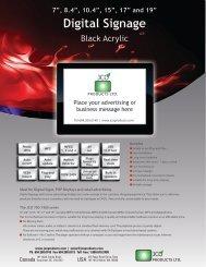 Digital Signage - JCO Products