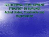 GEOTHERMAL EXPLORATION IN BURUNDI - African Union