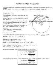 Positionnement par triangulation - Pages de Michel Deloizy