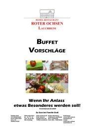 Kalt- warmes Buffet - Roter Ochsen