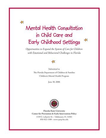 Mental Health Consultation in Child Care and Early Childhood ...