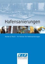 Hafensanierungen am Beispiel HKM  - Rostek & Pesch