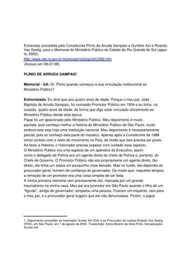 Plínio de Arruda Sampaio - Mazzilli